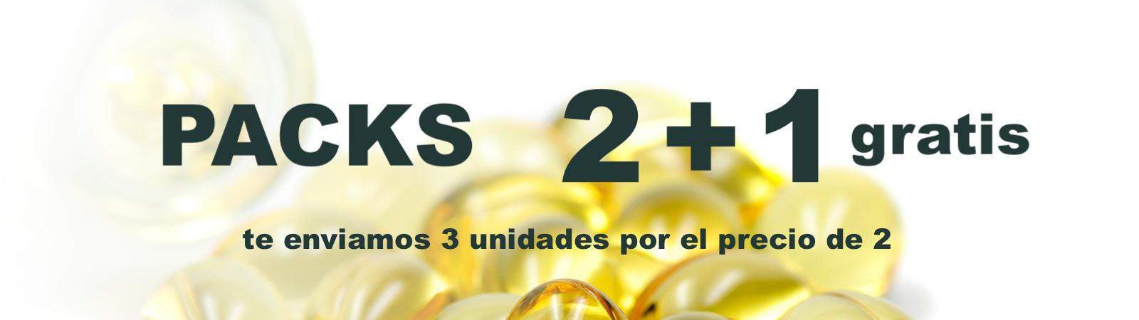 Packs 2 +1 Complementos y Suplementos Naturales | Ofertas Suplementos Alimenticios y Plantas Medicinales
